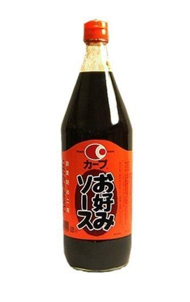 画像1: 【地ソース】カープソース お好みソース 瓶入900ml 1本 (1)
